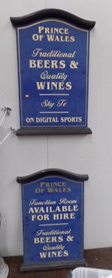 Two Prince of Wales signs