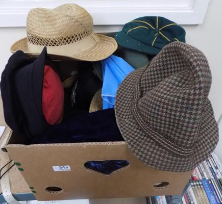 Box of costume hats
