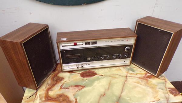 Vintage Hitachi music system + speakers