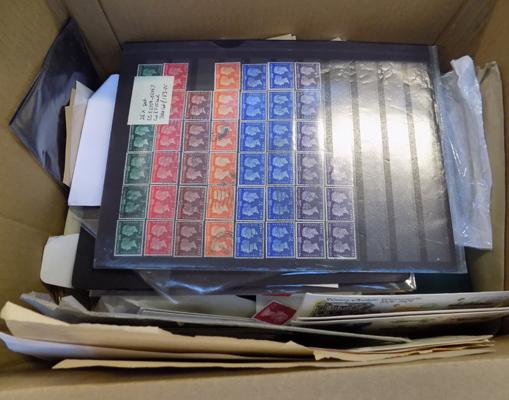 Box of mixed stamps