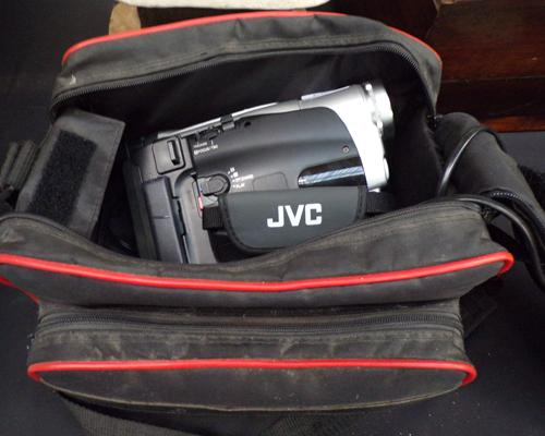 JVC Camcorder with accessories & case