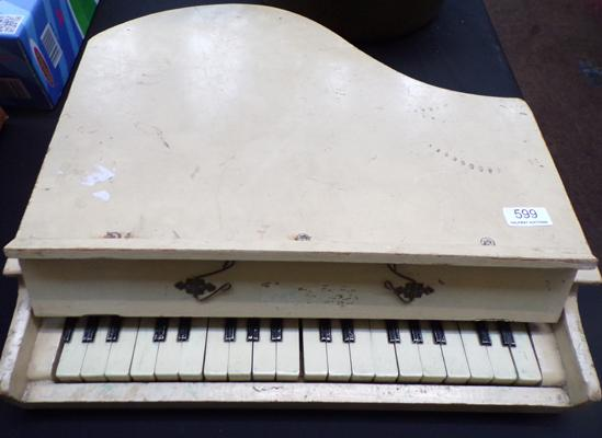 Vintage retro table top wooden piano