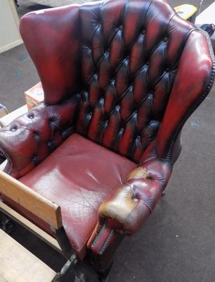 Chesterfield high back chair