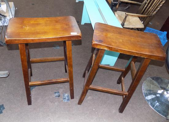 2 large seated bar stools