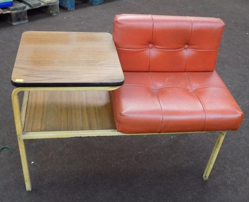 Retro telephone table/seat