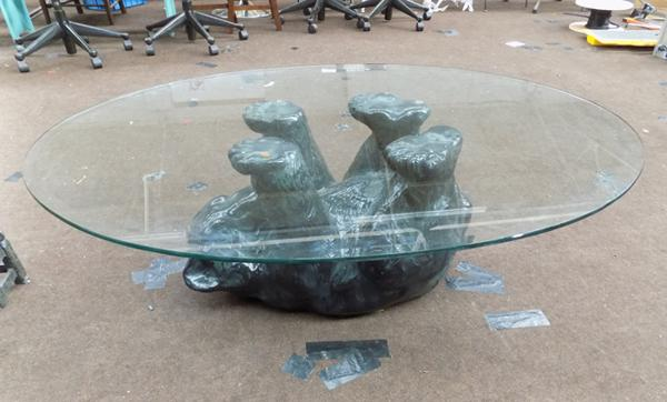 Black Forrest Style Bear novelty coffee table