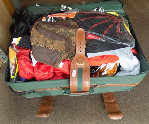Large suitcase full of dressing up clothes mostly children's - some Halloween