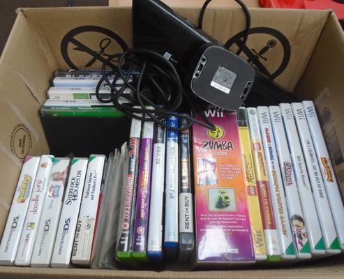 Boxed of mixed computer games + XBox Eye