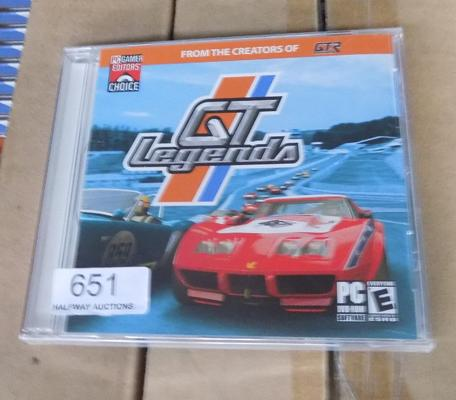 2 boxes of new and sealed GT Legends PC games