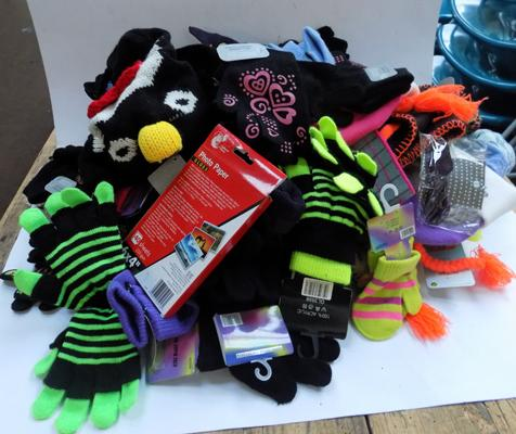 Box of children's hats & gloves