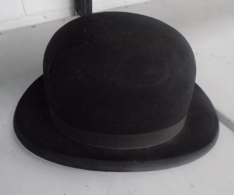 Bowler hat with some damage, ideal prop/display piece