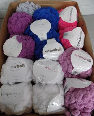 Box of Sirdar Snowball Scarf-in-a Ball wool