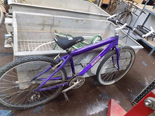 Purple mountain bike