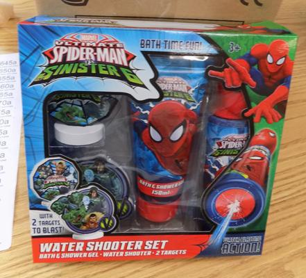 Four Spiderman Aquablasters