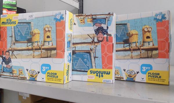Six  Minion floor puzzles