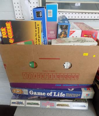 Box of vintage games