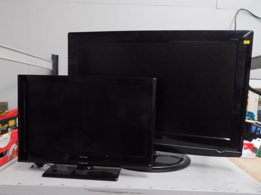 LG flat screen TV and Technika flat screen TV