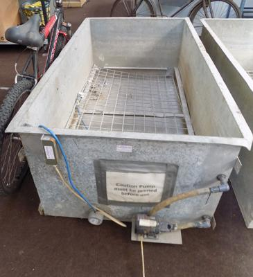 Very large galvanised tub approx. 3ft x 4ft x 6ft