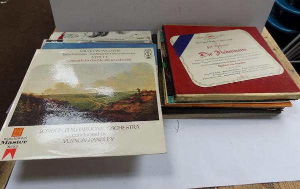 Box of rare classical records, rare box sets