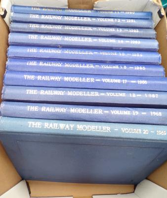 10 volumes of 'The Railway Modeller' - 1960-1969 in very good condition