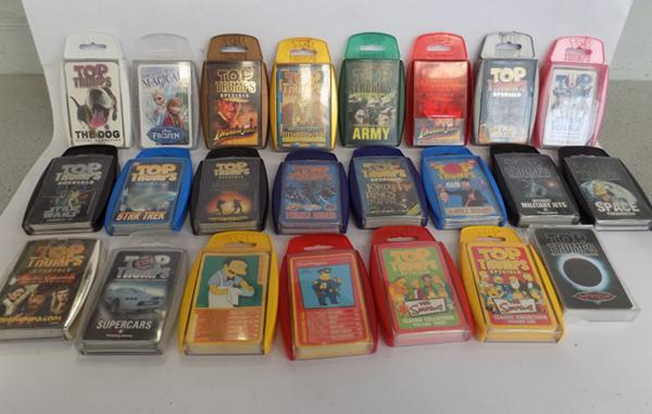 23 x Top trumps cards - Star wars/Simpsons & others