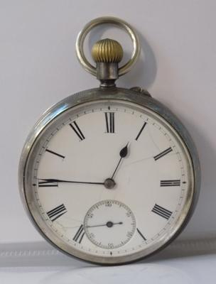 Silver cased antique pocket watch- gent's