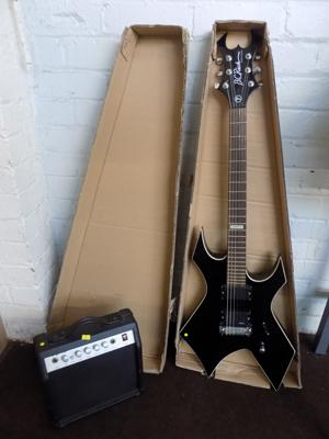BC Rich signature special electric guitar & amp (in box)