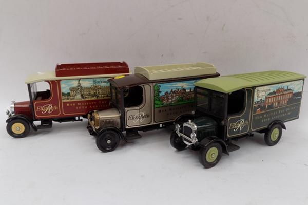 3x Corgi Ford 1950's advertising vans