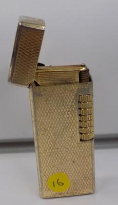 Gold plated rolla gas lighter