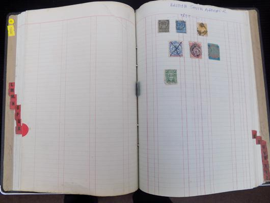 Binder of Queen Victoria Stamps etc.