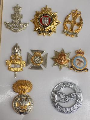 Selection of military badges