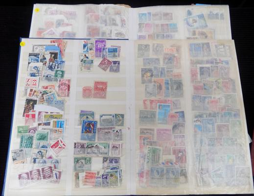 2 well filled stockbooks of world stamps