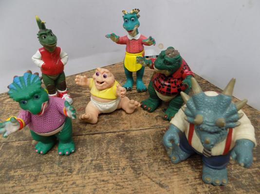 6 x Disney 1991/3 TV Series Dinosaurs - Sinclairs/Richfield Set