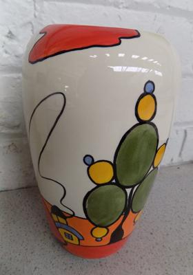 Lorna Bailey vase-Marshland cottage 9 inches high