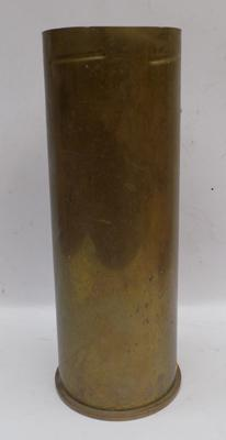 Large brass artillery shell 15 inches tall