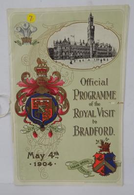 Official programme-Royal visit to Bradford 1904