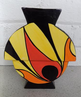 Lorna Bailey vase- Flame inches high