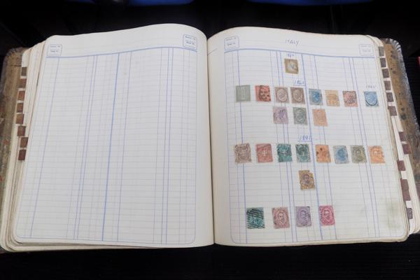 Binder containing good early world stamps