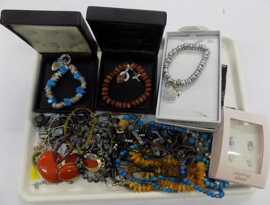 Selection of gemstone jewellery & handmade jewellery & star jewellery