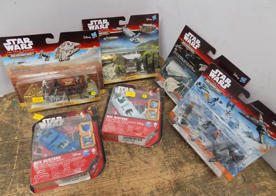 6 x Star Wars Micro Machines/box busters carded