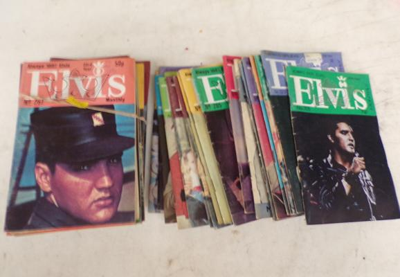 Selection of Elvis magazines