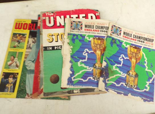 Selection of football ephemera including World Cup 1966