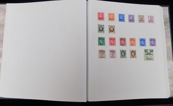 Album containing mint & used early Commonwealth stamps etc.