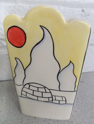 Lorna Bailey vase- Artic 6 inches high-no damage found