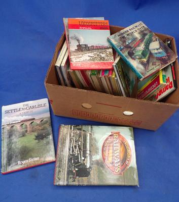 Box of railway books