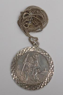 Silver St. Christopher on chain