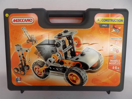 Boxed meccano set - construction pro