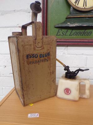 Esso paraffin can & 1 other