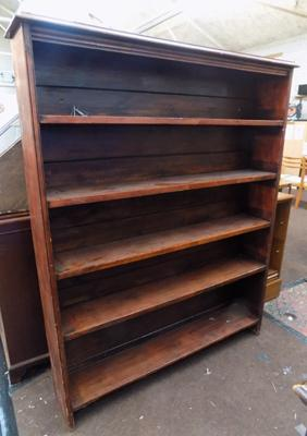 Large vintage solid wood bookcase-50 inches wide x 65 inches