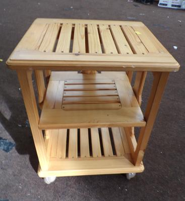 Small pine coffee table/magazine rack